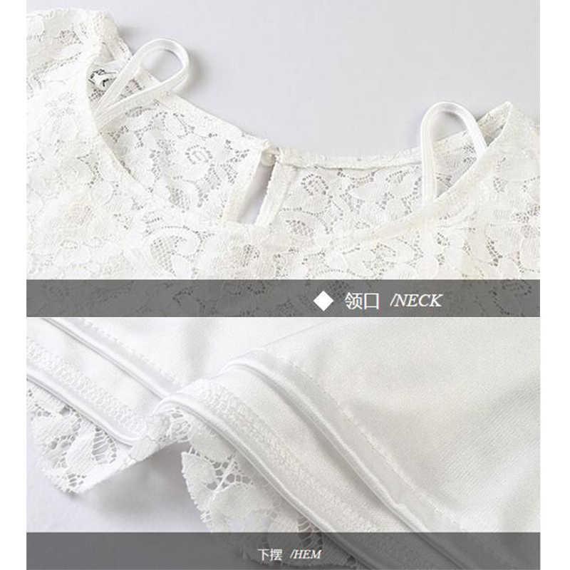 a84927ad06 ... White Lace Tops Women Summer T-shirts Plus Size Clothing 5xl 6xl Fashion  Elegant O
