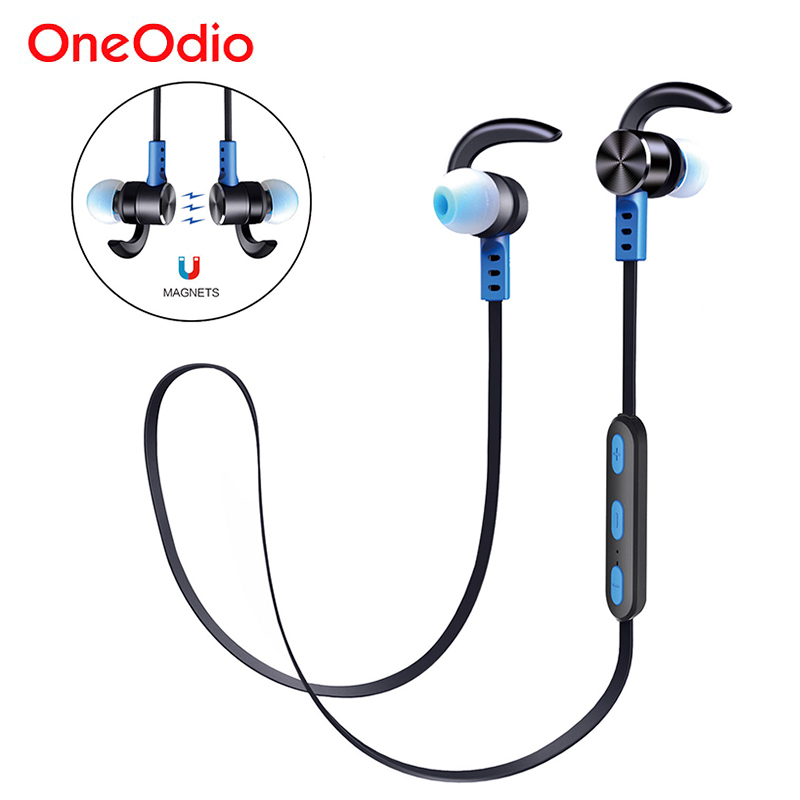 Oneodio Bluetooth Earphone Sport Handsfree IPX5 Waterproof Wireless Headset Stereo Mini In Ear Bluetooth Earbuds With Microphone