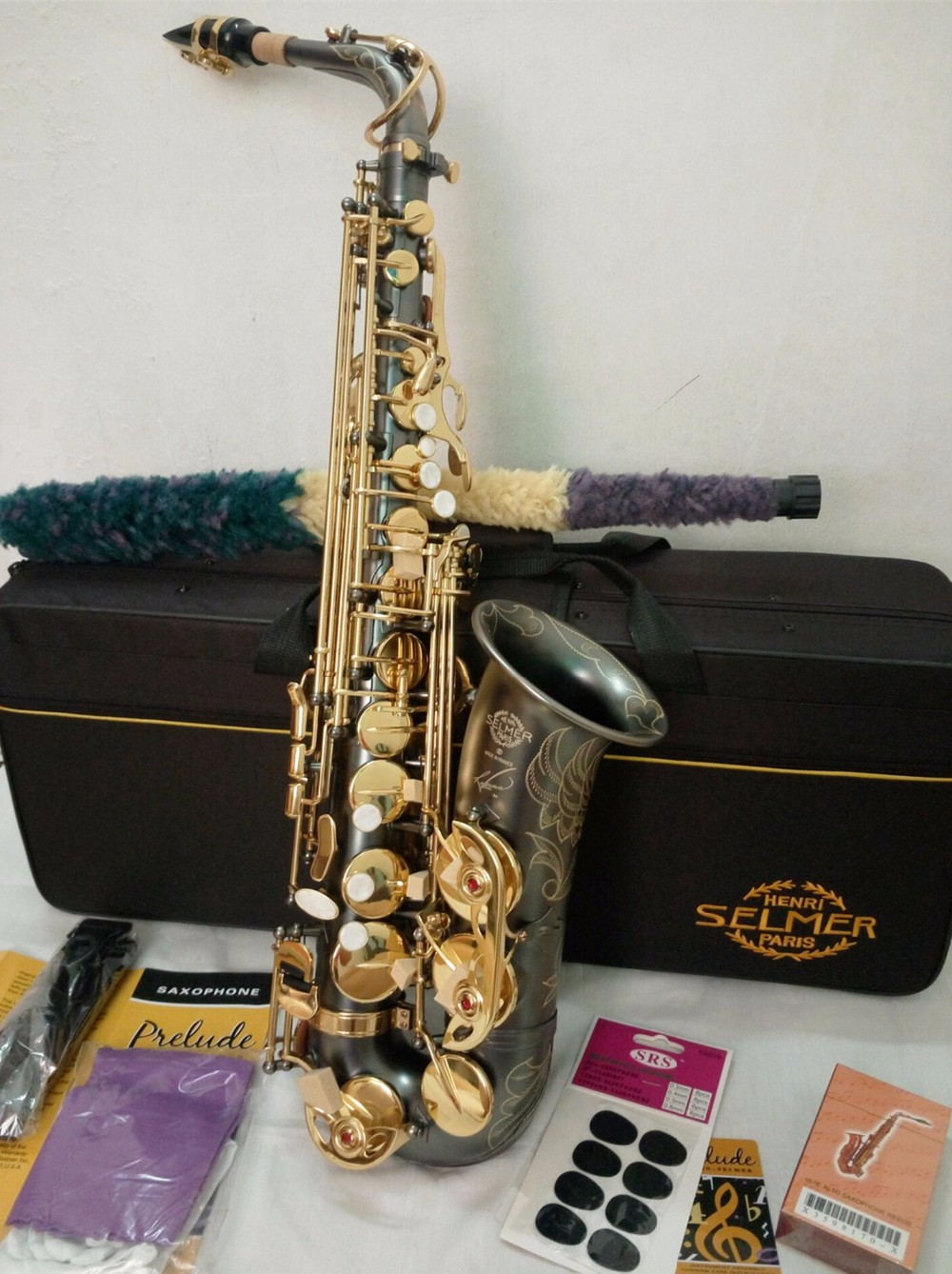 Alto Saxophone New High Quality Selmer 54 Sax Musical Instruments Professional And E-Flat Black Saxophone Alto Saxophone alto saxophone selmer 54 brass silver gold key e flat musical instruments saxophone with cleaning brush cloth gloves cork strap