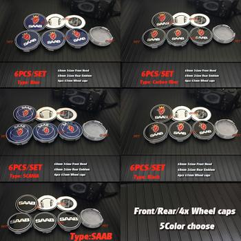 6 sztuk saab znaczek na samochód znaczek do stylizacji samochodu naklejki 60mm 62mm koła nakładki środkowe 68mm z przodu osłona na maskę dla 03-10 Saab 9-3 9-5 93 95 tanie i dobre opinie emblem car styling for 03-10 Saab 9-3 9-5 93 95 for 03-10 Saab 9-3 9-5 93 95 9000 3D metal car sticker for saab emblem car Badge Decals for 03-10 Saab 9-3 9-5 93 95