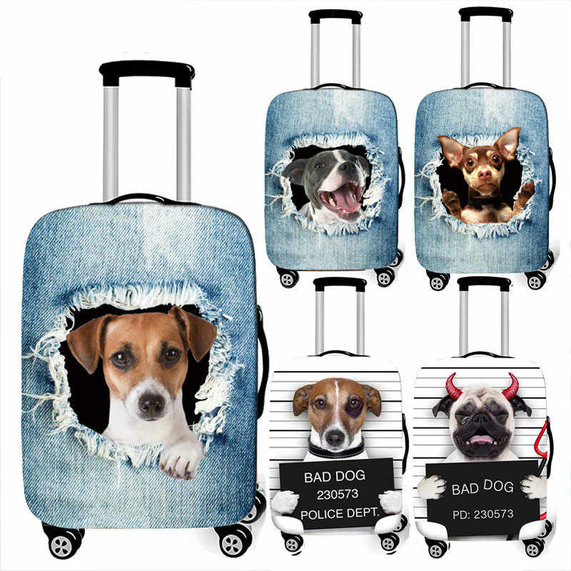 Luggage Protective Cover Case For Elastic 18-32 Inch Suitcase Protective Cover Cases Covers Xl Travel Accessories 3D Cowboy Dog