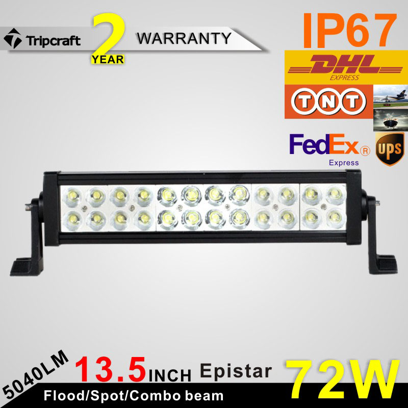 ФОТО Hot sale! 2PCS 13.5 inch 2 ROW 72W Epistars LED LIGHT BAR LED RAMP LAMP OFFROAD for all vehicles with high low beam function 10V