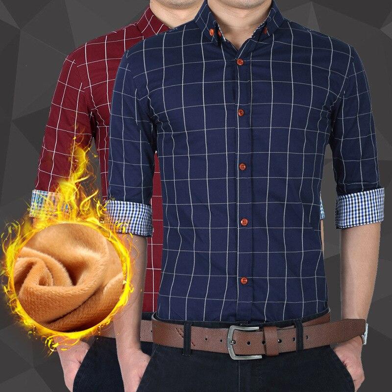 Nouveauté 2018 hommes or velours robe chemises automne mode rayé chemise à manches longues mâle or velours chemises mâle décontracté Velv