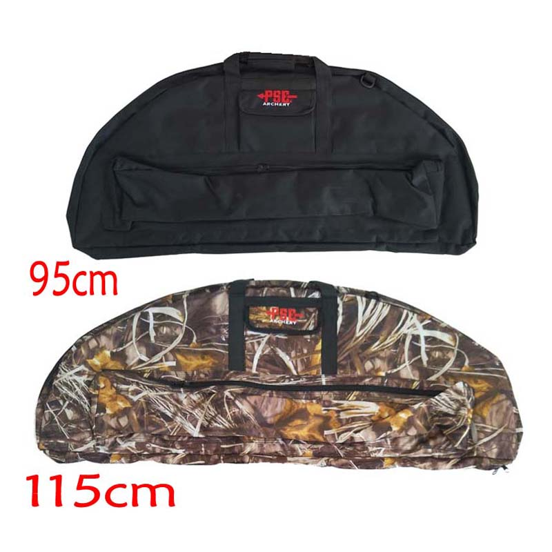 95cm/115cm Archery Compound Bow Bag Padded Layer Foam Bow Case Hunting Holder Arrow Tube Packet Portable Bag dmar archery quiver recurve bow bag arrow holder black high class portable hunting achery accessories