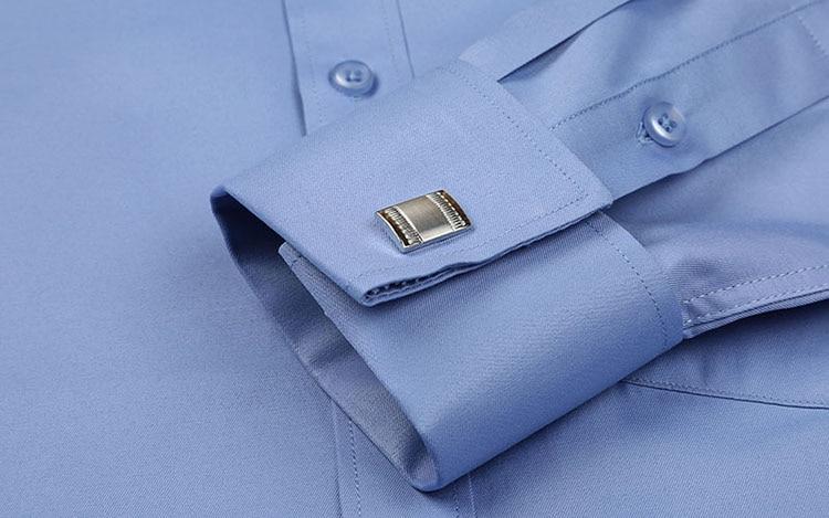 5XL Langarm Französisch Manschette Männer Business Hemd Regular Fit - Herrenbekleidung - Foto 4