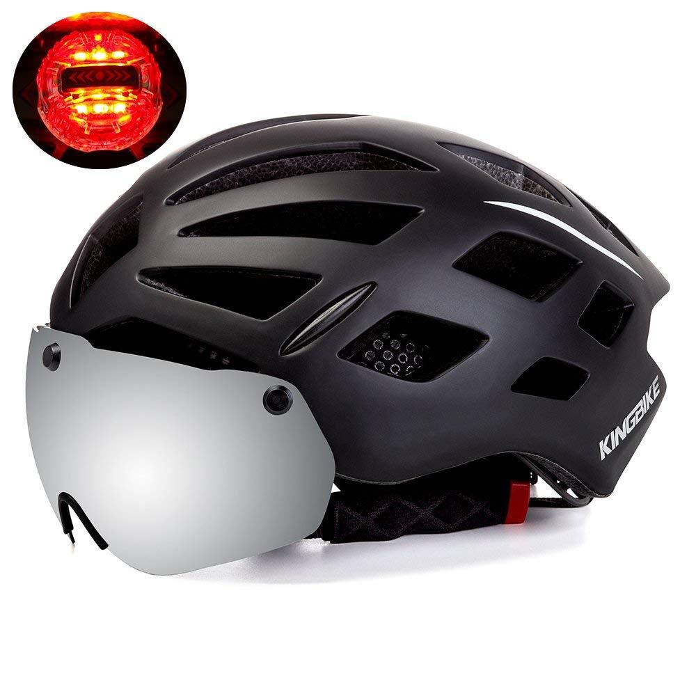 Bicycle Helmet Detachable Eye Shield Goggles 100% UV400 Bicycle Helmet Protection Men Women Cycling MTB ce RearLight Bike Helmet|Bicycle Helmet|Sports & Entertainment - title=