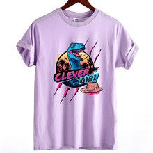 9695075fc Harajuku T shirt Funny Jurassic Park Dinosaur Clever Girl Print T shirt  Casual Summer Tshirt Femme