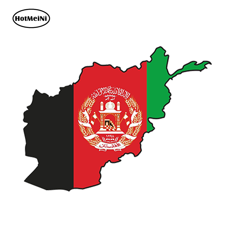 HotMeiNi Car Styling Car Sticker STICKER <font><b>Afghanistan</b></font> SILHOUETTE BUMPER DECAL MAP FLAG Waterproof Accessories 13cmx9.75cm image