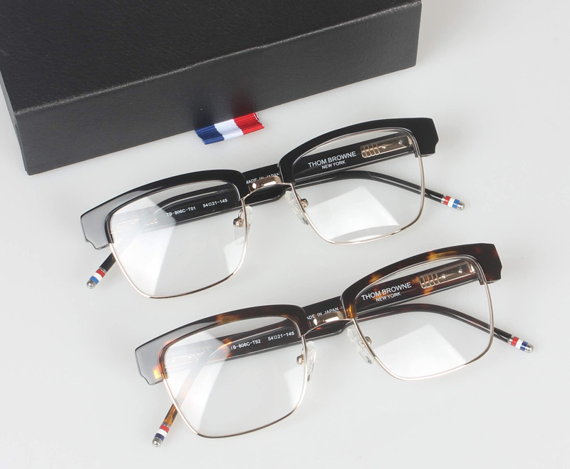 2d236b06981 Half frame eyeglasses frames men square optical gold black eye ...