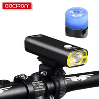GACIRON Rechargeable Bike Light Super Bright 400 Lumens Light Cycling Front Led Lights Waterproof Big Capacity