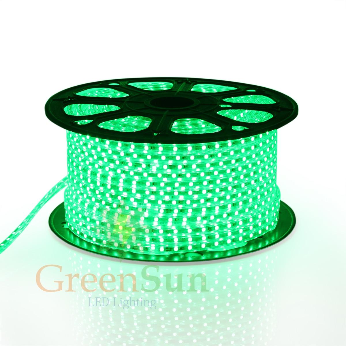 Green LED Strip Light 20-100M 60 LEDs/ meter Ultra Bright 5050 SMD LED Outdoor Garden Home Strip Rope Light Waterproof 0 9m smd 3528 90 leds waterproof led rope light festival lighting
