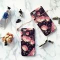 Мода ретро розовый цветок телефон чехол для iPhone 6 6S 6plus 6Splus 7 7plus Scrub Soft Задняя обложка чехол