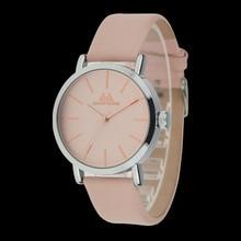 Rosa de la vendimia Mujeres de Los Hombres Relojes Unisex reloj de pulsera Clásico Del Cuero Genuino de Moda de Cuarzo Resistente Al Agua Relogio Montre Femme Regalo