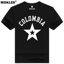 COLOMBIA t shirt diy free custom made name number col t-shirt nation flag co spanish republic country college university clothes
