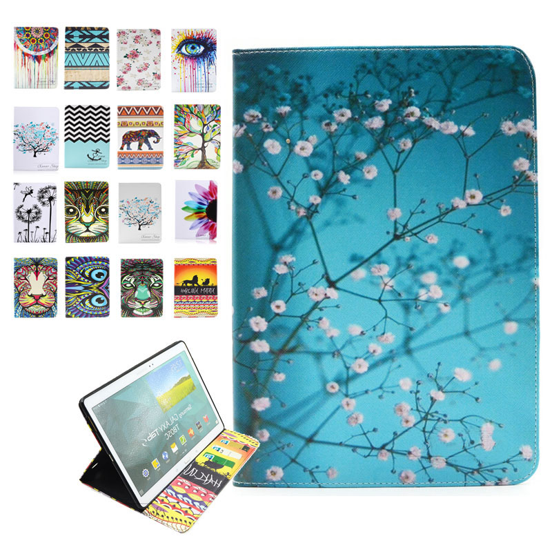 For Samsung T710 T715 Original Leather Cover Case for Samsung Galaxy Tab S2 8.0 T710 T711 T715 Case with Colorful Painting Funda