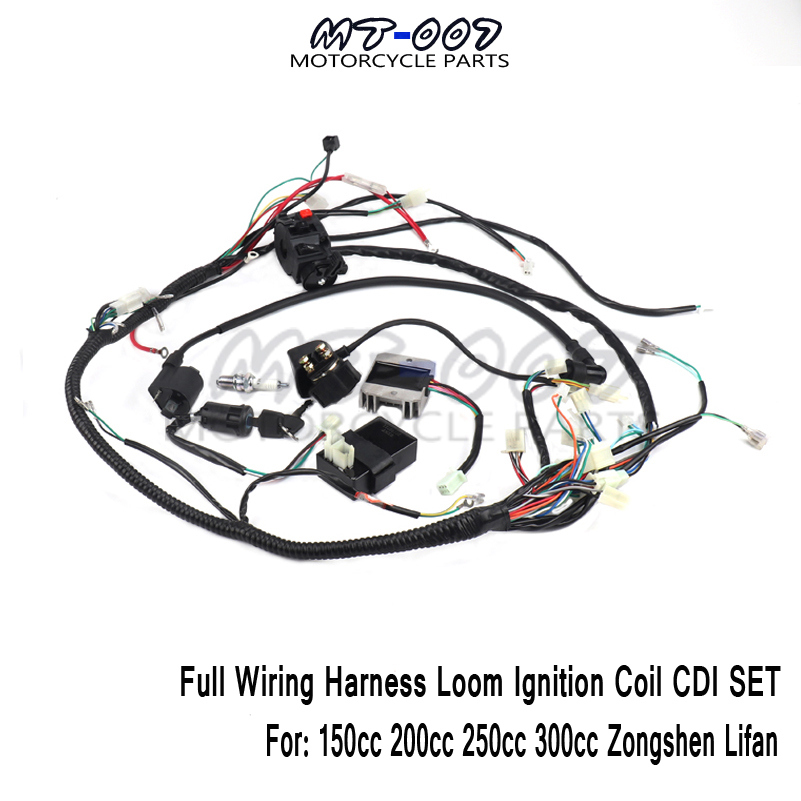 [DIAGRAM_38ZD]  Full Wiring Harness Loom 150/200/250/300cc ATV Quad Buggy Electric Start  Engine archives.midweek.com | 250cc 300cc Wiring Harness |  | Midweek.com