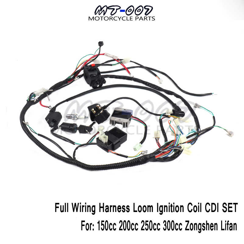 lifan 200cc atv wiring full wiring harness loom ignition coil cdi for 150cc 200cc 250cc  full wiring harness loom ignition coil