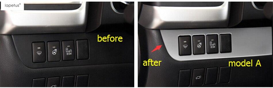 Lapetus Accessories For Toyota Highlander Kluger 2014 2015 2016 Left Side Control Below Strip Frame Molding Cover Trim 1 Pcs