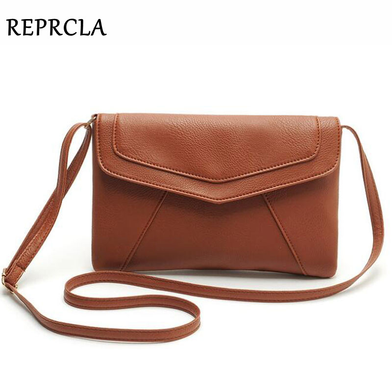 REPRCLA Women Leather Envelope Shoulder Bags Ladies Small Vintage Messenger Bag Designer Crossbody Satchels Sling Bag WJ1068