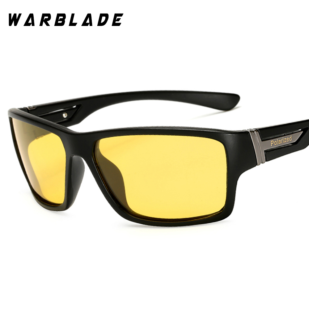 0ed153cf66 WarBLade Night Vision Sunglasses for Men UV400 Protection Night Driving  Glasses Male HD Polarized Yellow Lens Sun Glasses W1821-in Sunglasses from  Men s ...