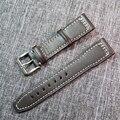 21mm Correas de Reloj Correa de Cuero Genuino Venda de Reloj para IWC Pulseras con Hebilla de acero Inoxidable