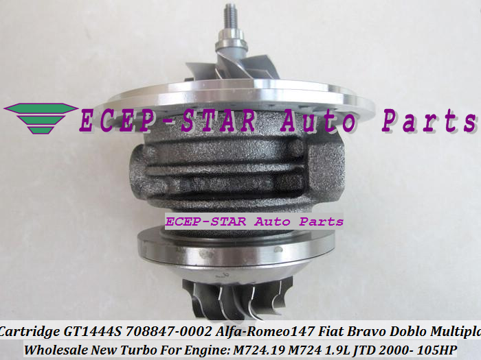 Turbo CHRA Cartridge Turbocharger Core GT1444S 708847-5002S 708847-0002 708847-0001 For Alfa-Romeo 147 Fiat Bravo Doblo Multipla 1.9L JTD 2000- (4)
