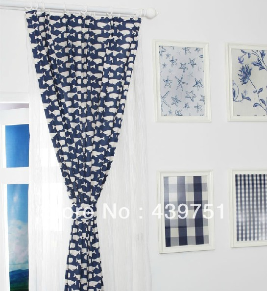 Aliexpress.com : Buy Kids children whale cartoon linen curtains ...