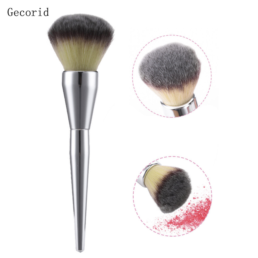 Big Beauty Powder Brush Makeup Brushes Blush Blend Foundation Round Make Up Large Cosmetics Aluminum Brushes Soft Face Makeup very big beauty powder brush blush foundation round make up tool large cosmetics aluminum brushes soft face makeup free shipping