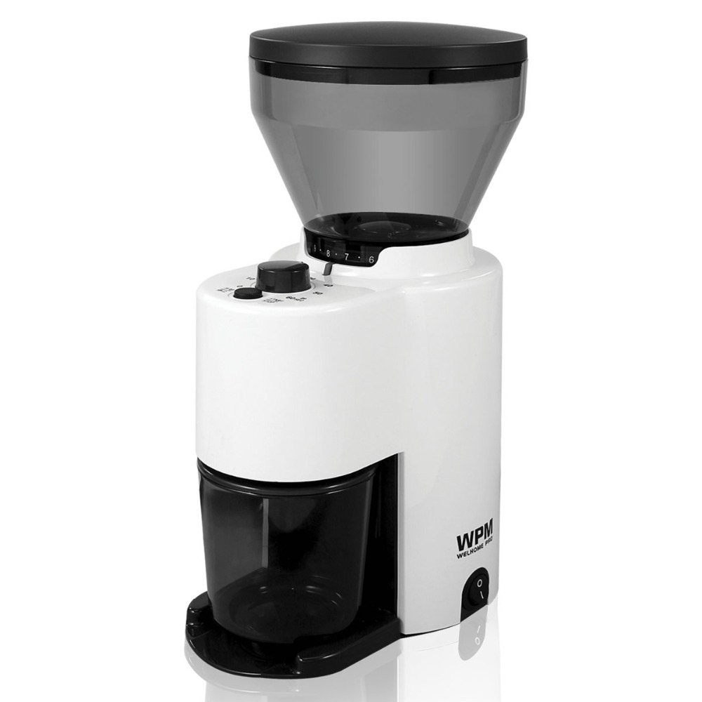 Welhome ZD-10/10T BK/WH Coffee Grinder  with Time Control for Home with High Quality and Elegant Design Plastic umbra 6 3х4 см qualy ql10185 wh wh bk