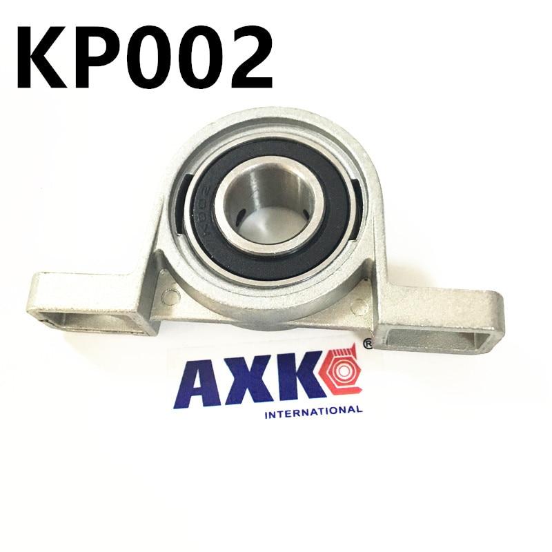 Free shipping 2pcs KP002 pillow block ball bearing 15mm Zinc Alloy Miniature Bearings