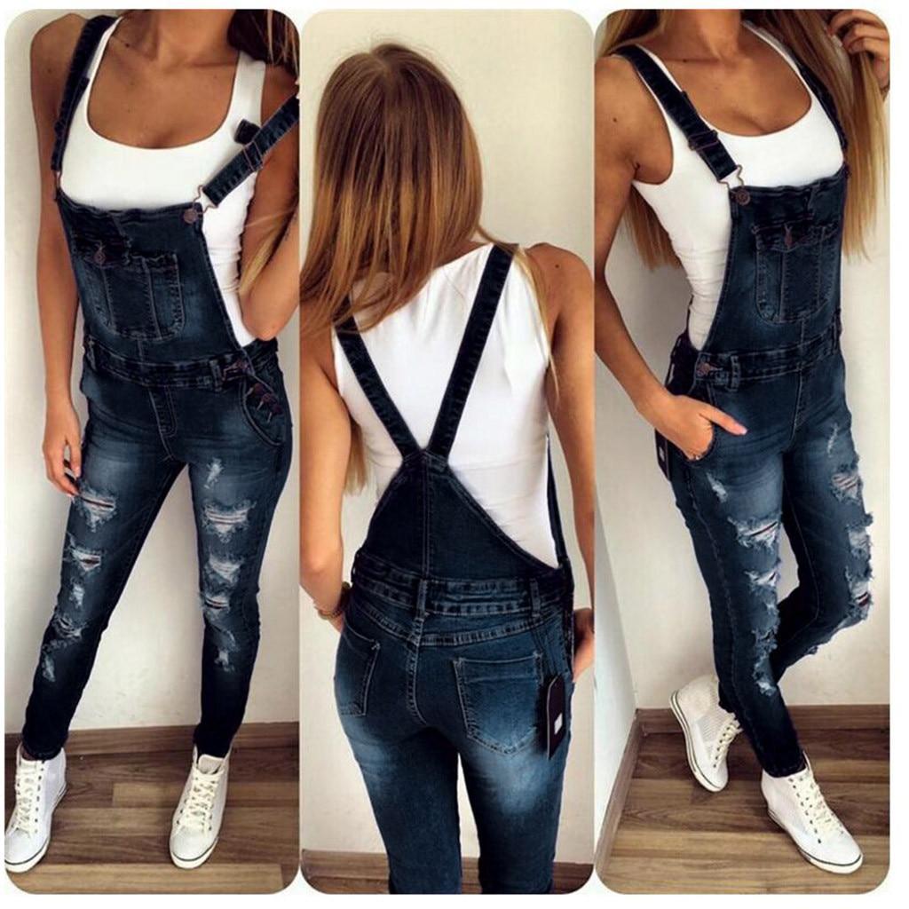 2020 Women Jeans Femme 2020 Nouveau Fashion Overall Shourt Pants Summer Spodnie Jeansowe Damskie Straps Sleeveless Clothing #5