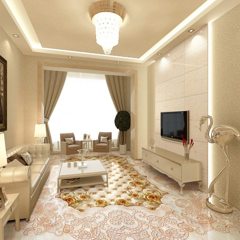 Free shipping Marble texture parquet flooring 3d floor home decoration self-adhesive mural baby room bedroom wallpaper mural