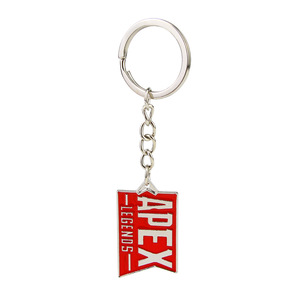 Image 1 - 10 pcs/lot Hot game Apex legends keychain keyring stainless steel key chain Pendants action figure toy gifts