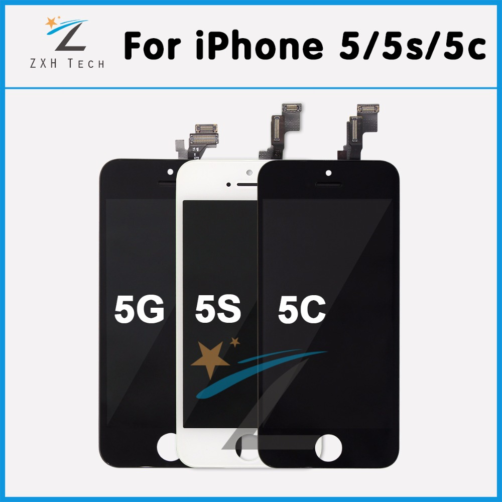 10PCS LOT Mobile Phone LCD For iPhone 5C LCD Screen Assembly Pantalla For iPhone 5C 5S
