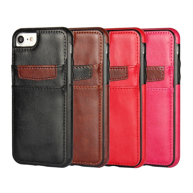 Leather Soft Silicon Phone Case For iPhone 7