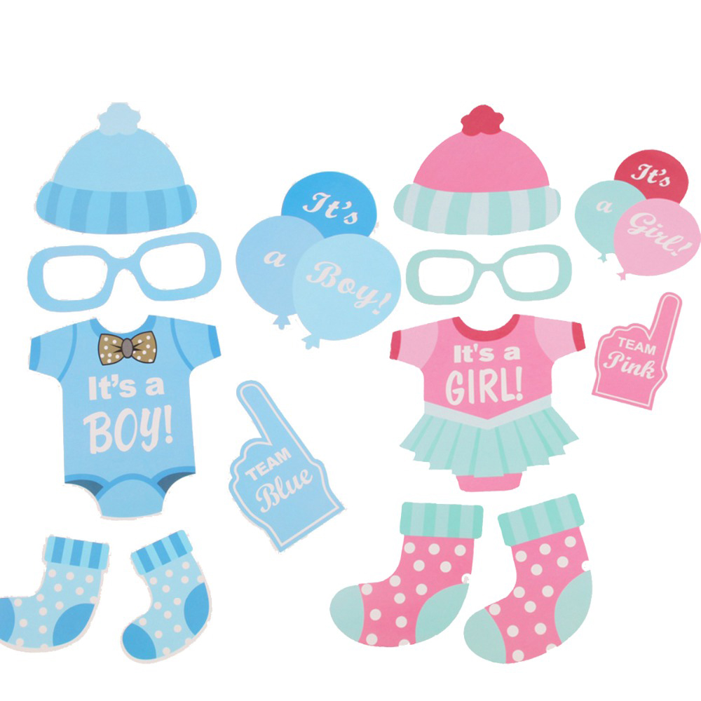 FENGRISE Baby Shower 25pcs Photo Booth Props Blue Pink Its A Boy Girl Fun  Mask PhotoBooth Props Decoration Party Events Supplies In Photobooth Props  From ...