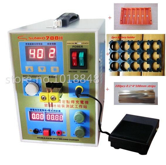 220 v/110 v Nouvelle mise à jour LED éclairage 788 H double impulsion de précision 18650 Spot Soudeur Batterie Soudeur, 788 h
