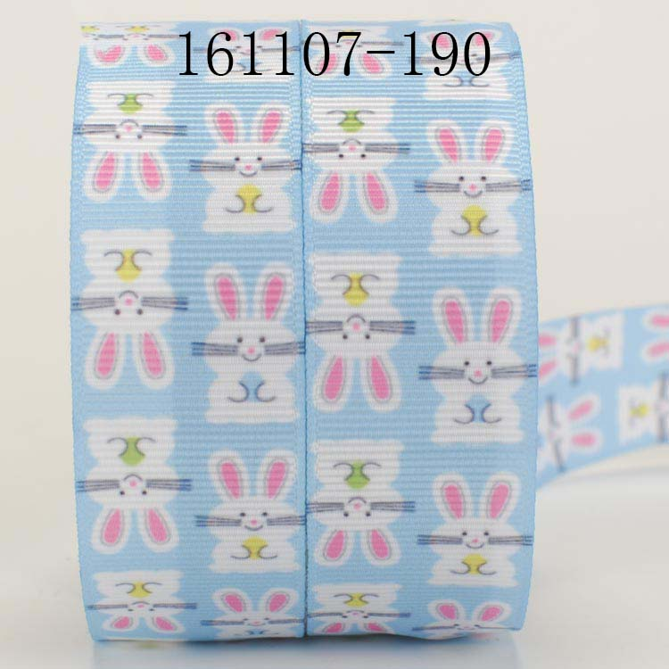 Clearance 100 YARD ROLL Green satin ribbon with easter egg /& chicken feet print