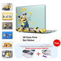 Minions Throw Bananas Crystal Case For Macbook Air 11 12 Pro Retina 13 15 Cover For New Macbook 12 Free Dust Plug+Keyboard Cover