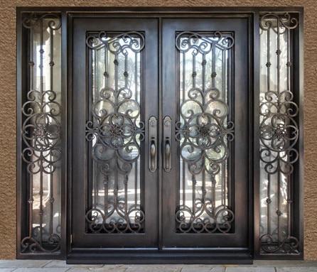 Buy Double Doors With Transom French Entrance Doors Custom Wood Doors