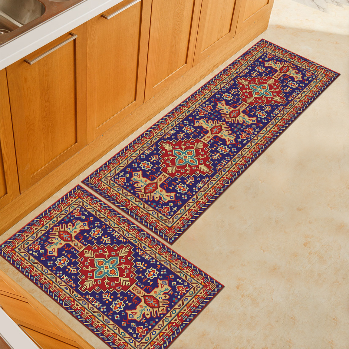 Zeegle Long Kitchen Mat Anti Slip Floor