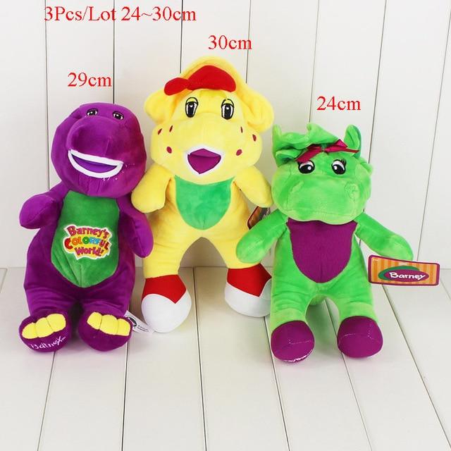 3 unids/lote dibujos animados Barney y sus amigos juguete de felpa ...