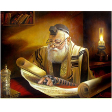 Rabbi Reading Full,square,resin,Diamond Embroidery sale,5D Diy Diamond Painting Cross-Stitch,5D Mosaic home mazayka Z888