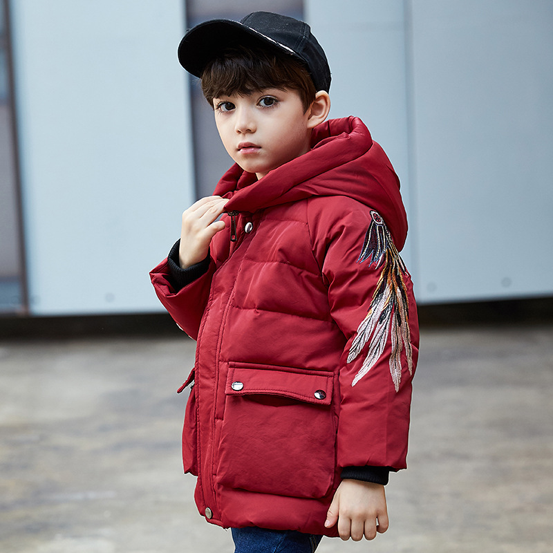 Children Winter Down Jacket For Boy Clothes 2018 New Casual Printed Hooded Thick Warm Baby Boys Coat Kids Outerwear Overcoats new 2017 winter boy down jacket thick warm boys downs coat kids down jacket for boys hooded collar children outerwear coat 3 14y