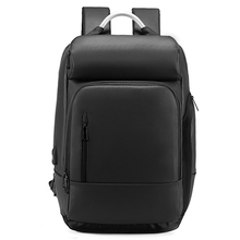 15.6 inch Laptop Backpack Business Male with USB Charging Port Travel Backpack Black Water Repellent Mochila Male Bag a1877 coolbell 15 6 inch laptop backpack travel bag with usb charging port multi functional business rucksack bags water resistant ff