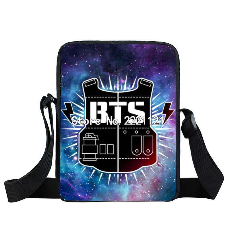 Korean KPOP BTS EXO GOT7 BAP Messenger Bag Girls Mini Crossbody Bag Women Handbag Hip Hop Bags Children School Bags Best Gift 2017 hot sale kpop fashion harajuku bts infinite fisland boyfriend snsd bap tvxq shinee umbrella