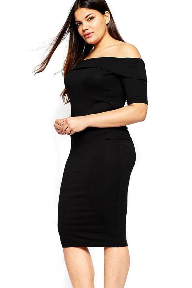 Elegant Black Dresses for Voluptuous