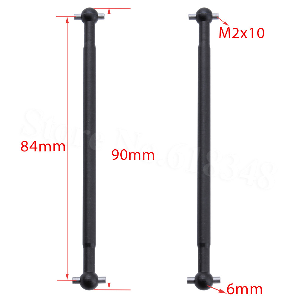 HSP 08059 08029 Steel Metal Dogbone 89.5mm (90mm) Shaft 2P Front Rear For Redcat Exceed RC 1:10 Scale 4WD Monster Truck Bigfoot