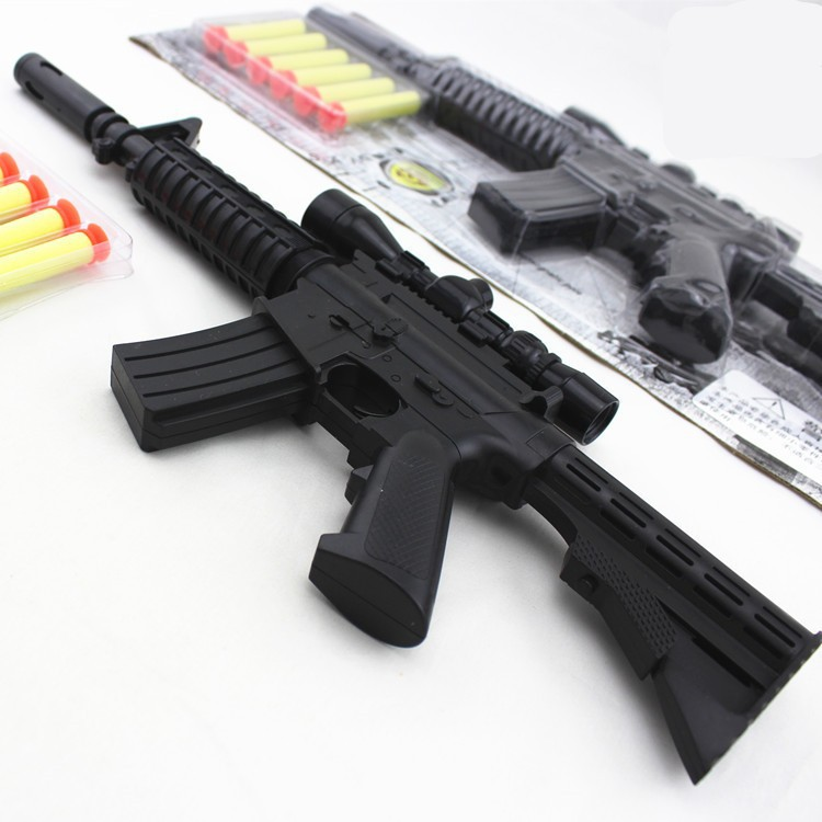 2015 New M4A1 assault rifle plastic nerf guns toy + 6 EVA Foam bullets  Imitation for kids Safe sniper rifle toy Submachine gun-in Toy Guns from  Toys ...