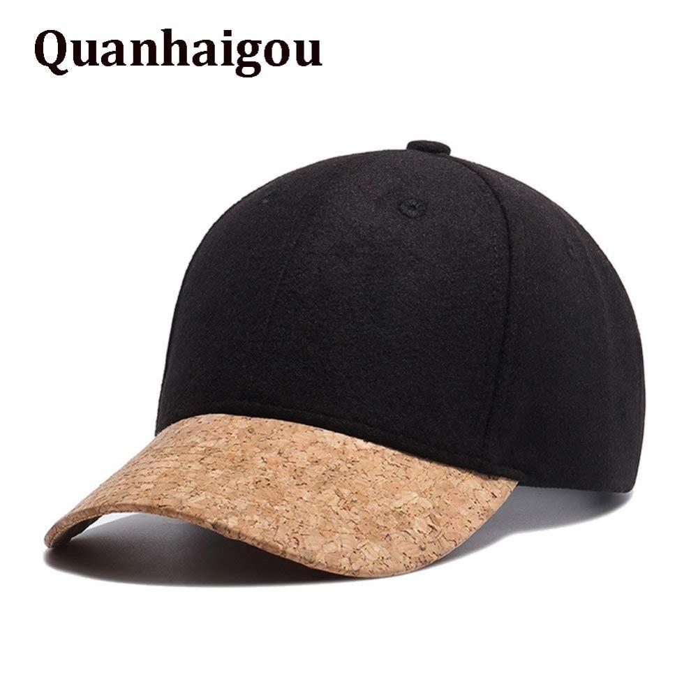 0d686eb8eb1 Brand Men s Woolen Wool Snapback Hat